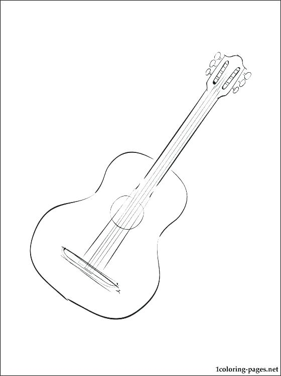 560x750 Electric Guitar Coloring Page Bass Guitar Coloring Pages To Print