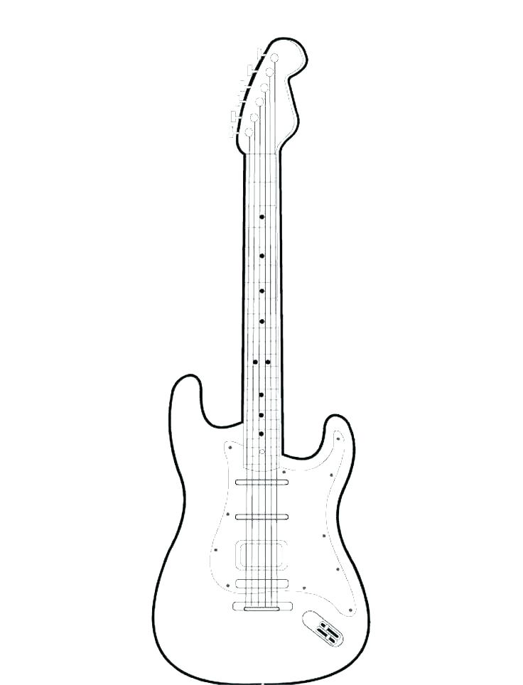 736x964 Electric Guitar Coloring Page Electric Guitar Coloring Pages