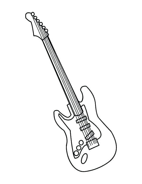 600x777 Electric Guitar Coloring Page Electric Guitar Coloring Pages Free