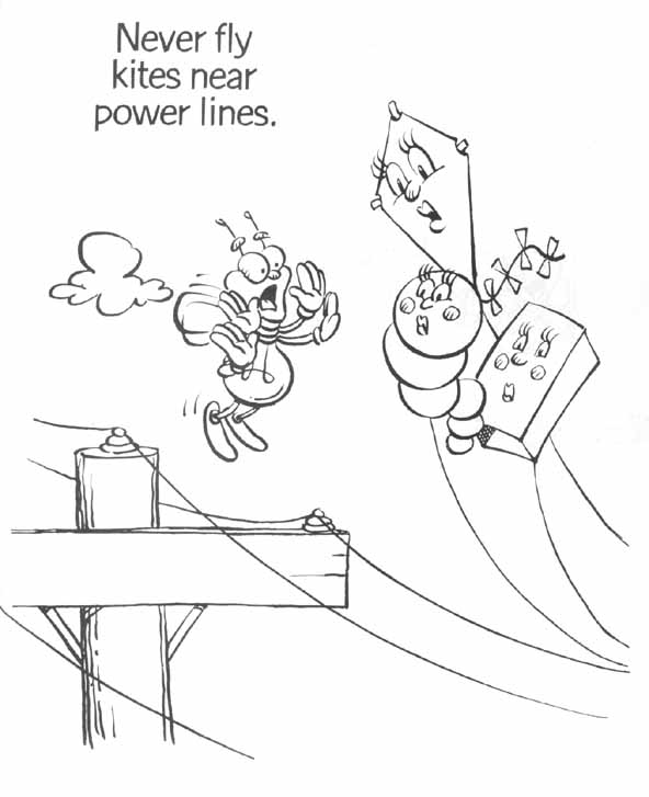 592x727 Electrical Safety Coloring Pages Electrical Safety And Your