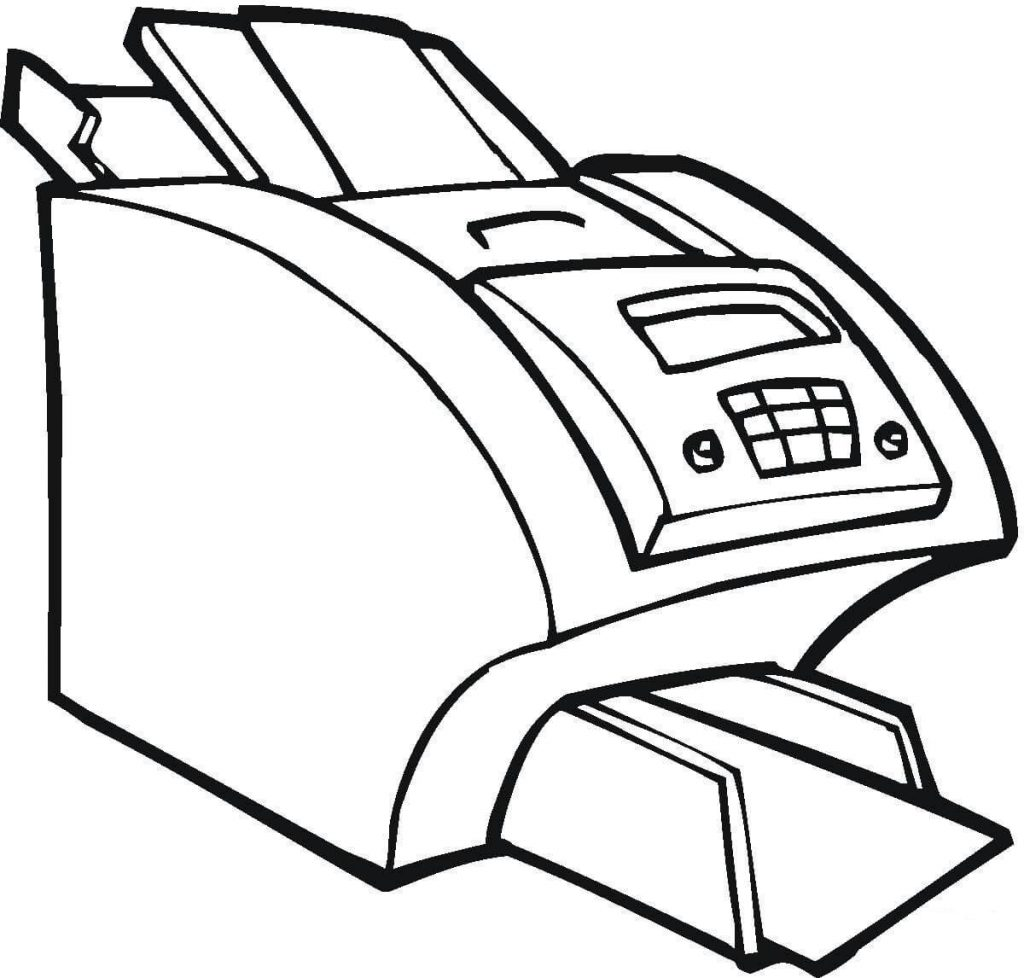 1024x978 Big Printer For The Office Electronic Coloring Page