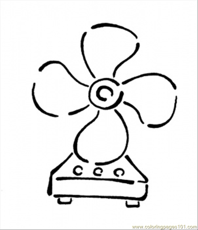 650x753 Coloring Pages Of Electric Fan