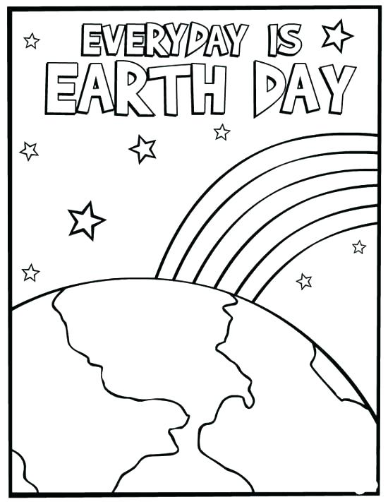 550x711 Earth Day Coloring Pages For Preschoolers Earth Coloring Sheets