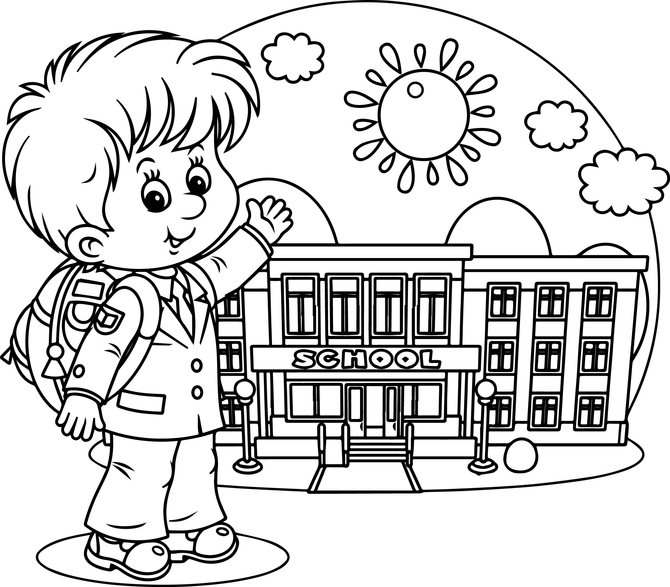 2207x1936 Coloring Pages For School Kids Preschool Funny Draw I On Middle