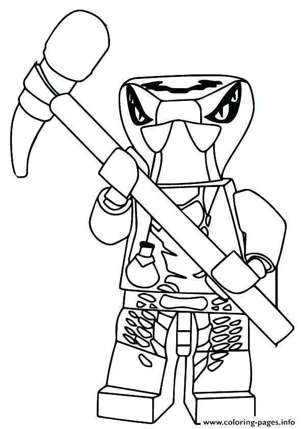 595x842 Lego Ninjago Kai Coloring Pages Tournament Of Elements Coloring