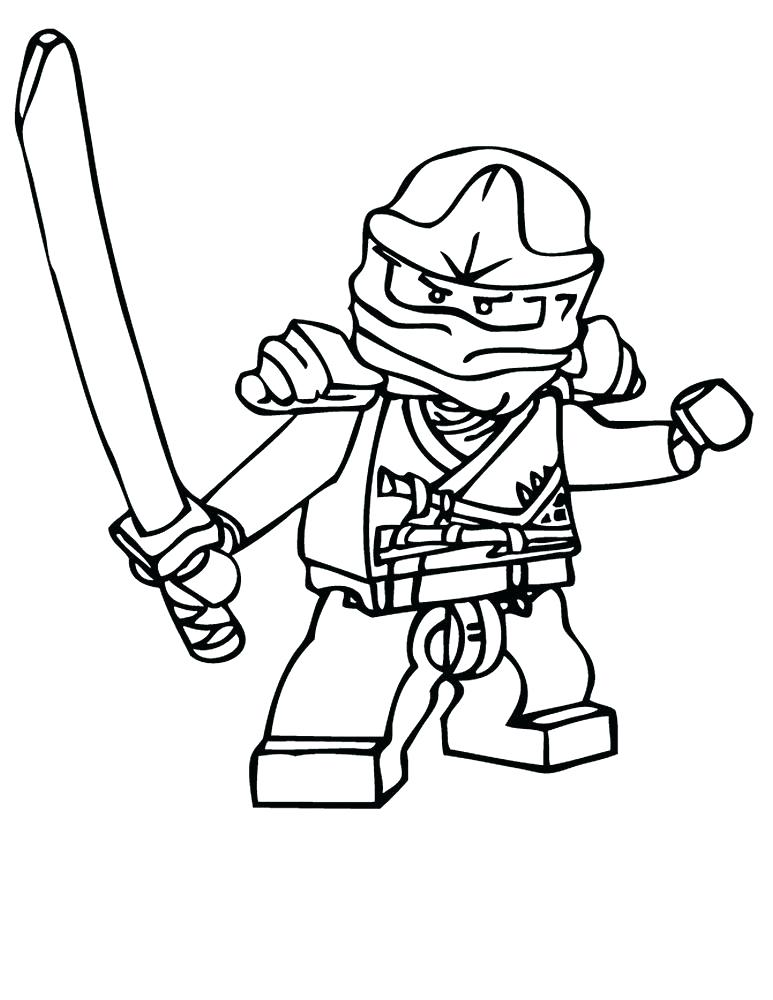 773x1000 Ninjago Coloring Pages Kai Tournament Of Elements Coloring Page
