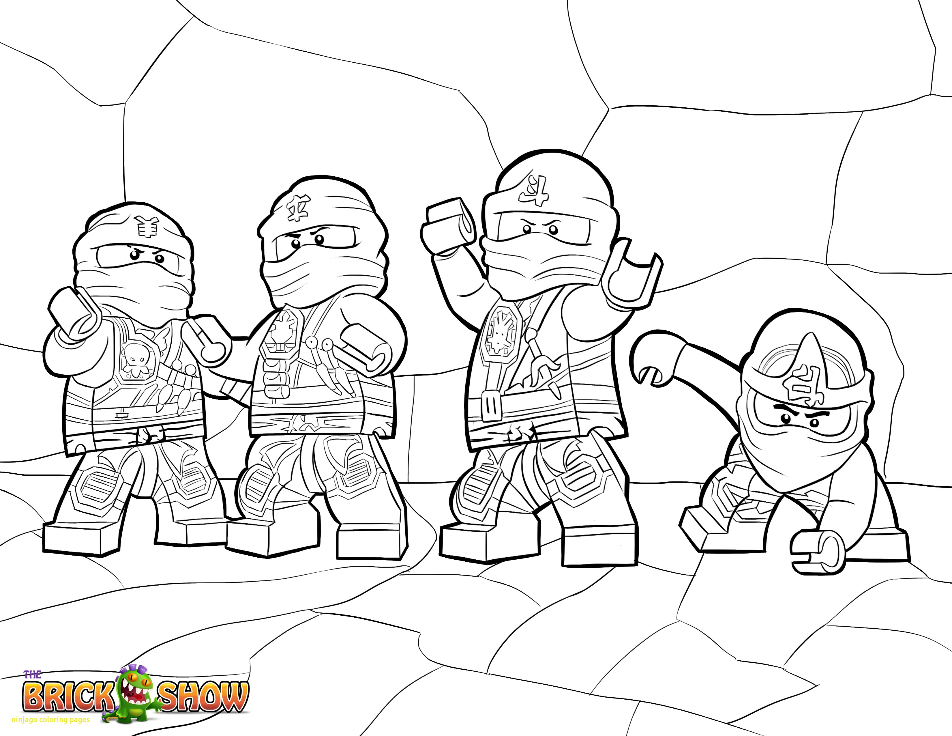 3300x2550 Ninjago Coloring Pages With Lego Ninjago Tournament Of Elements