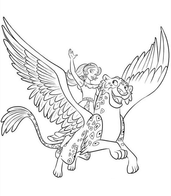 Elena Coloring Pages