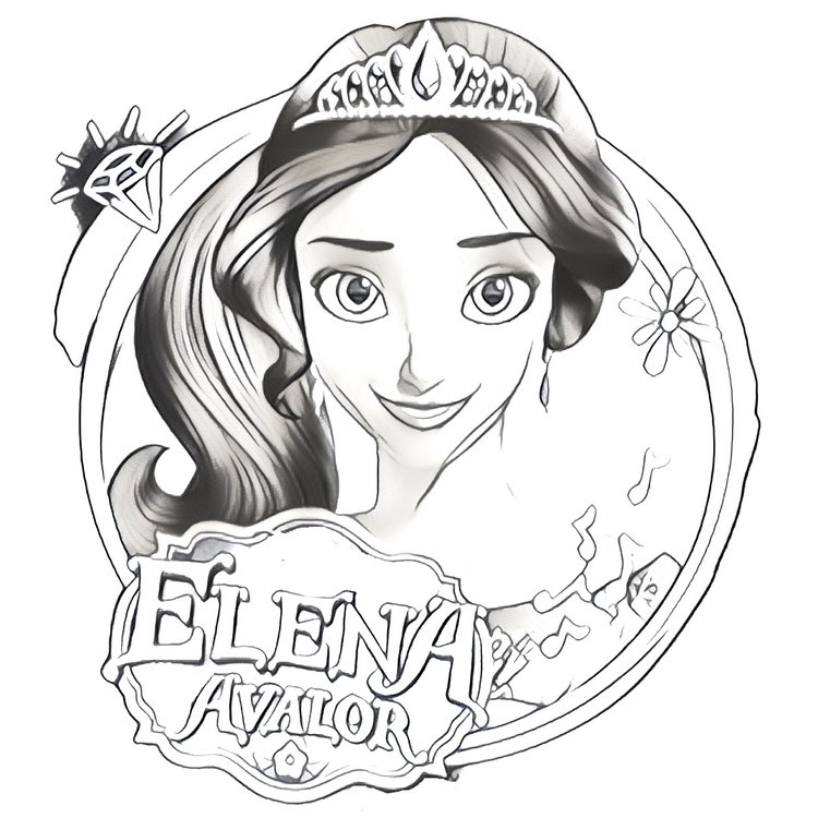 photo relating to Elena of Avalor Coloring Pages Printable called Elena Coloring Webpages at  Absolutely free for particular person