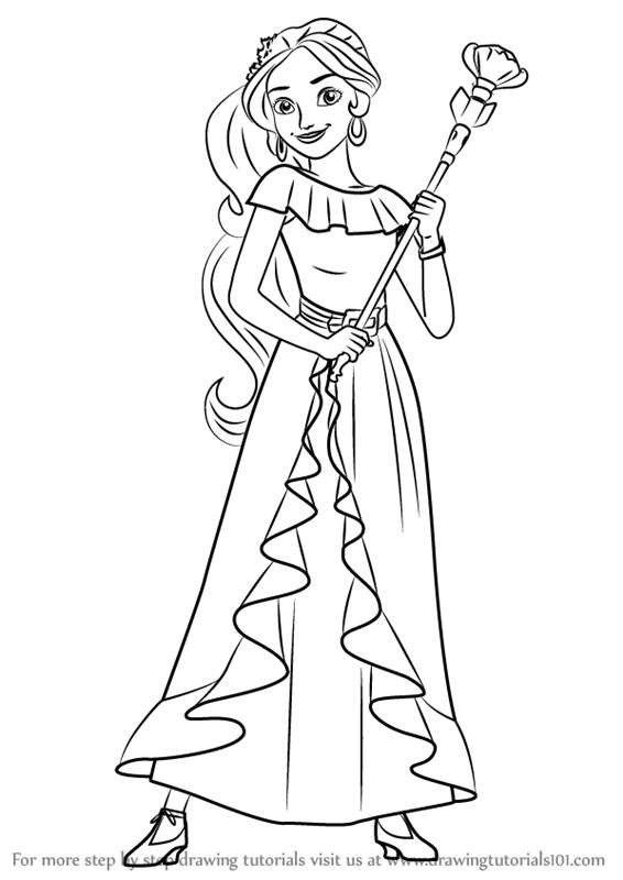 566x800 Drawn Princess Elena Disney