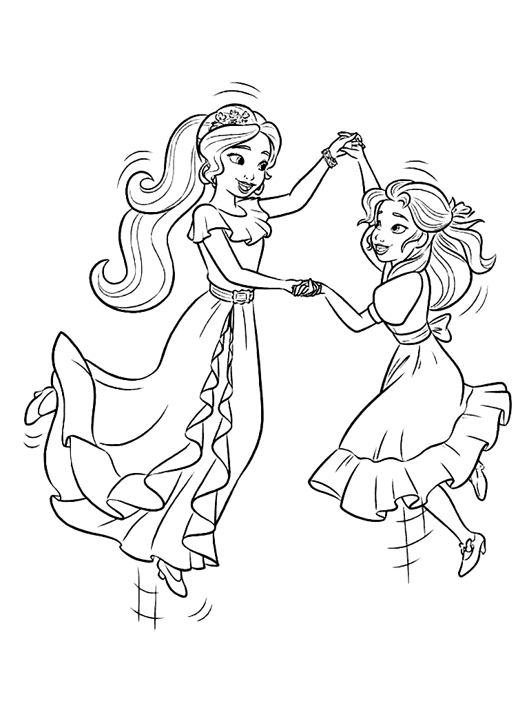 Elena Avalor Coloring Pages At GetDrawings