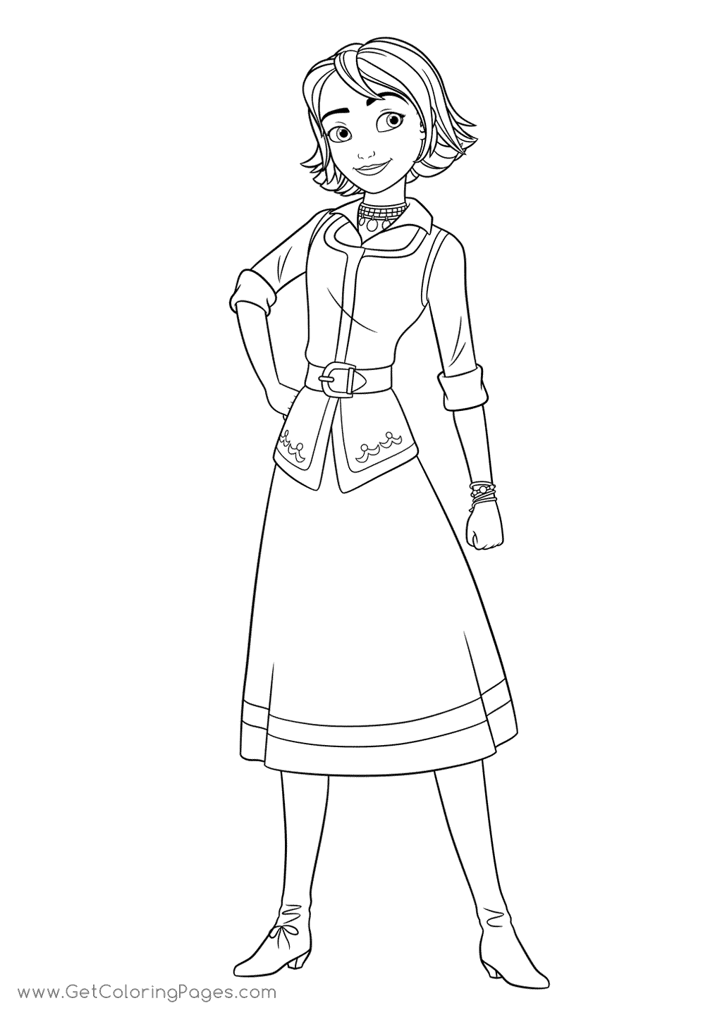 1024x1440 Naomi From Elena Of Avalor Coloring Page