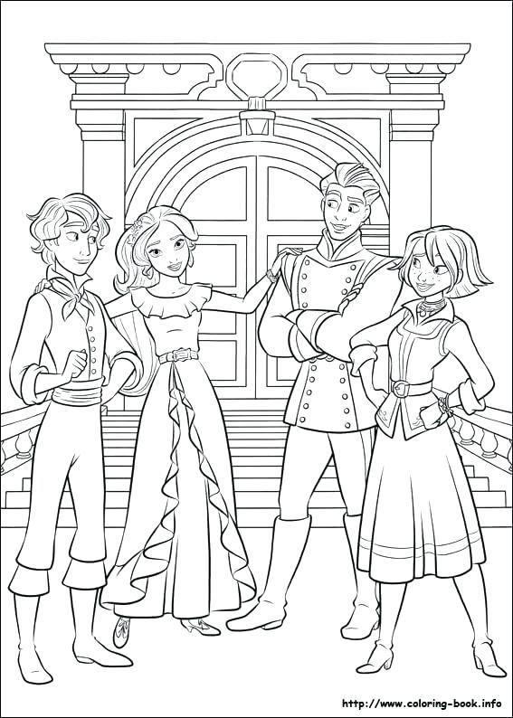 567x794 Elena Of Avalor Coloring Pages