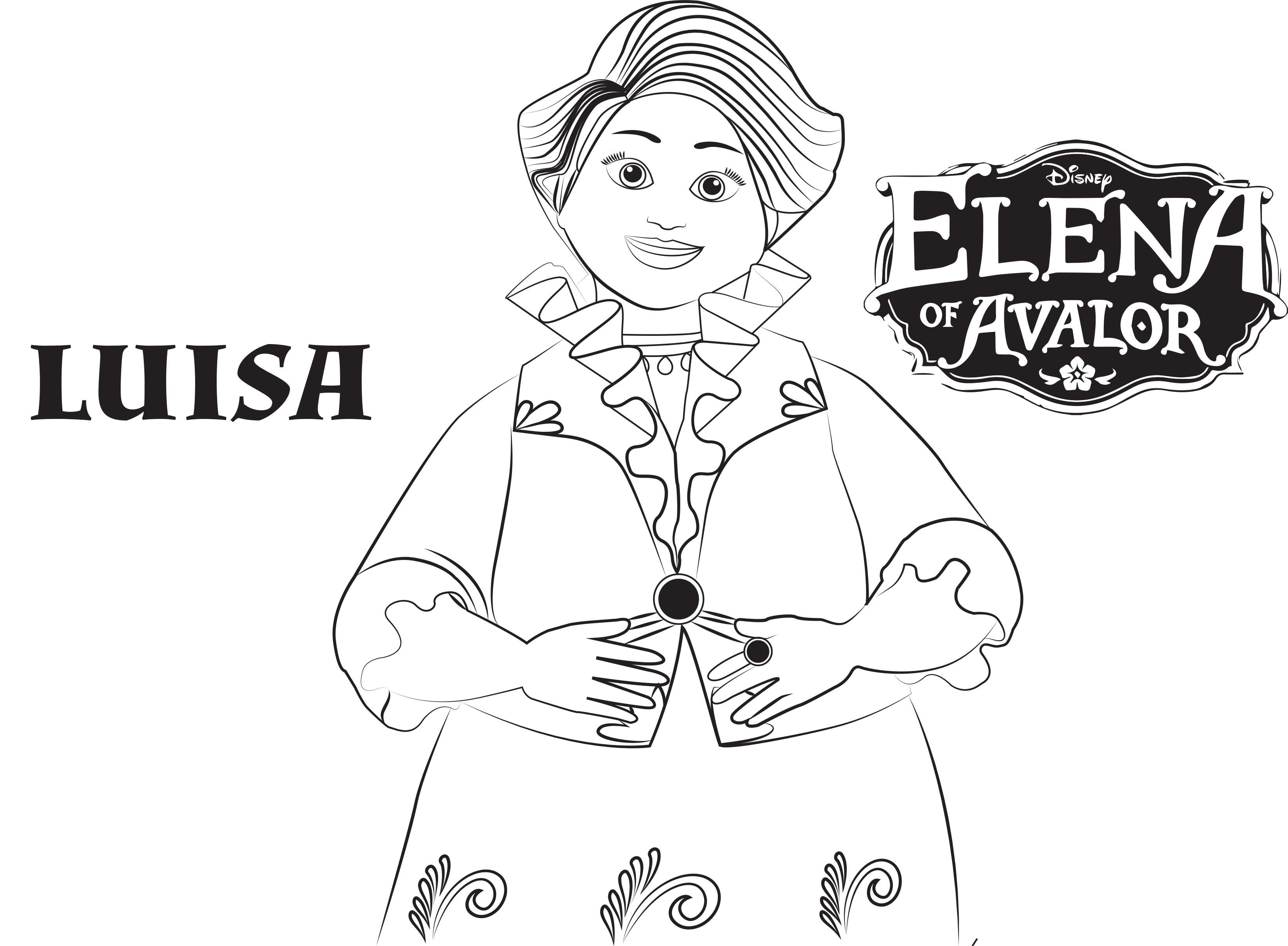 3287x2414 Disney's Elena Of Avalor Coloring Pages Sheet, Free Disney