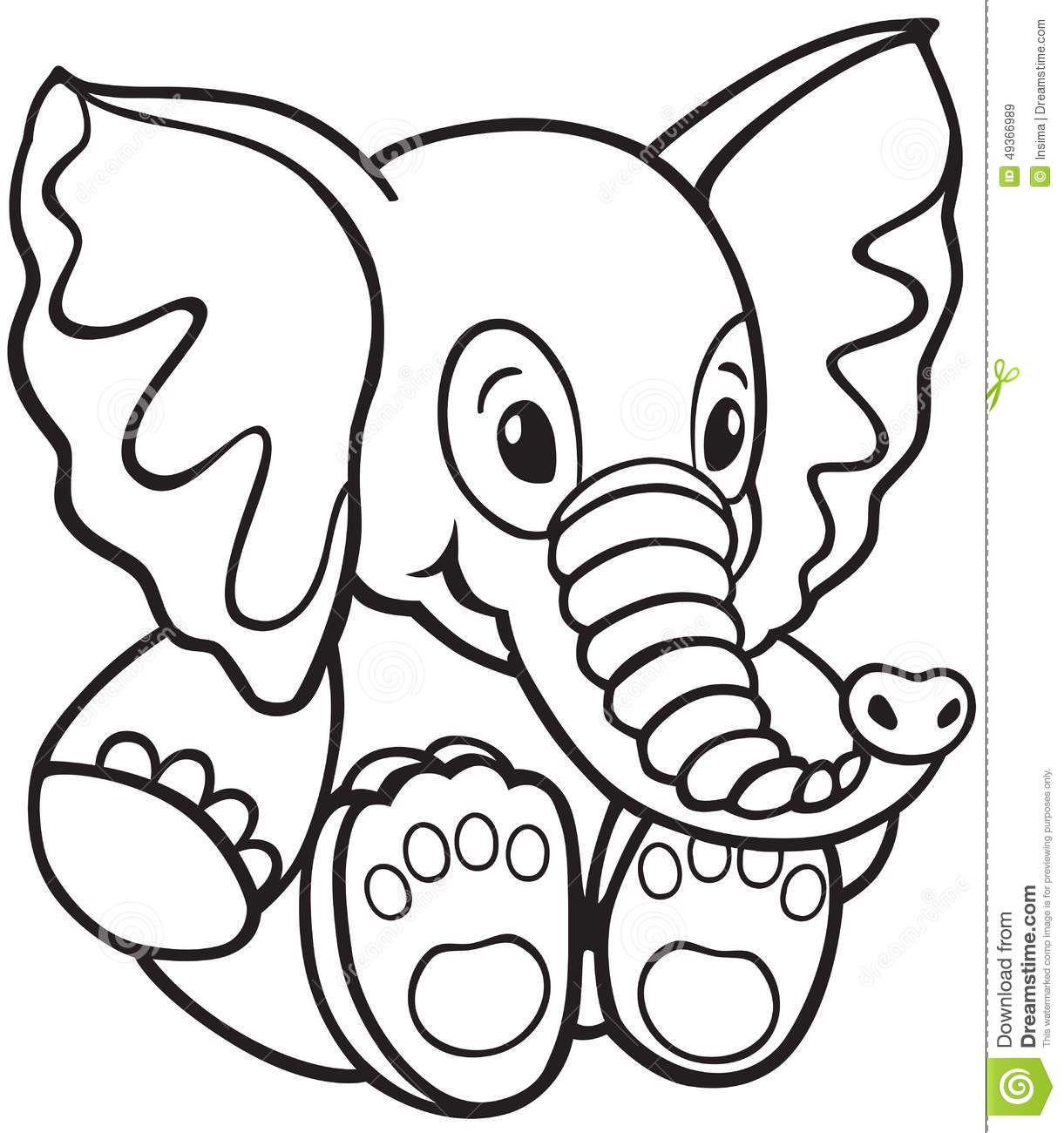 1221x1300 Elephant Toy Soft Black White Cartoon Image Little Kids