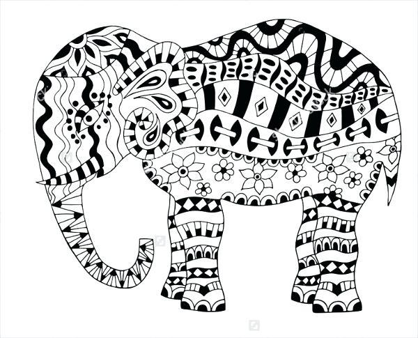600x485 Elephant Coloring Pages Elephant Coloring Pages Odd Elephant