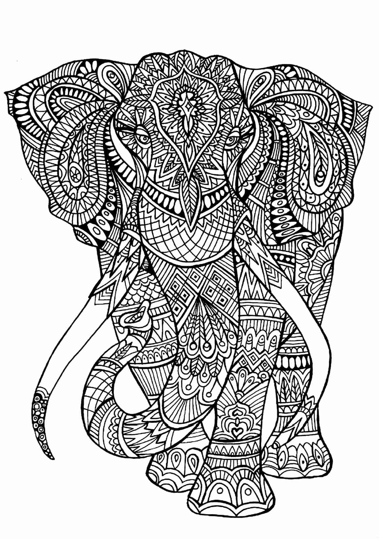 1300x1845 Elephant Coloring Pages Printable For Adults Preschool Good Page