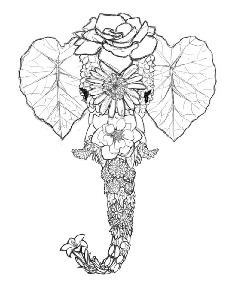 772x960 Get This Free Printable Elephant Coloring Pages For Adults !
