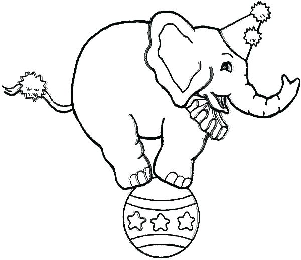 600x519 Elephants Coloring Pages Circus Elephants Coloring Pages Free