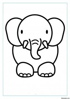 239x338 Print Out Animal Elephant Coloring Pages