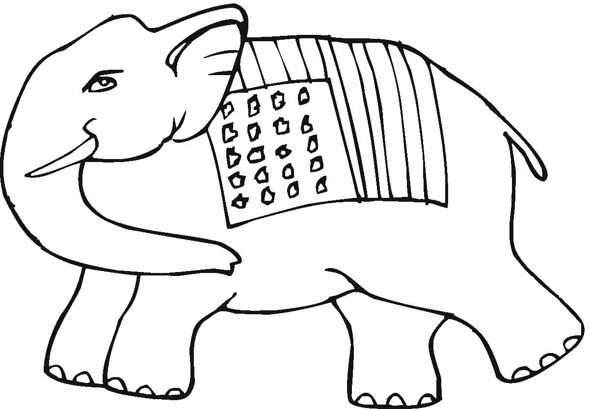 1200x833 Weird Asian Elephant Coloring Page Pages Print