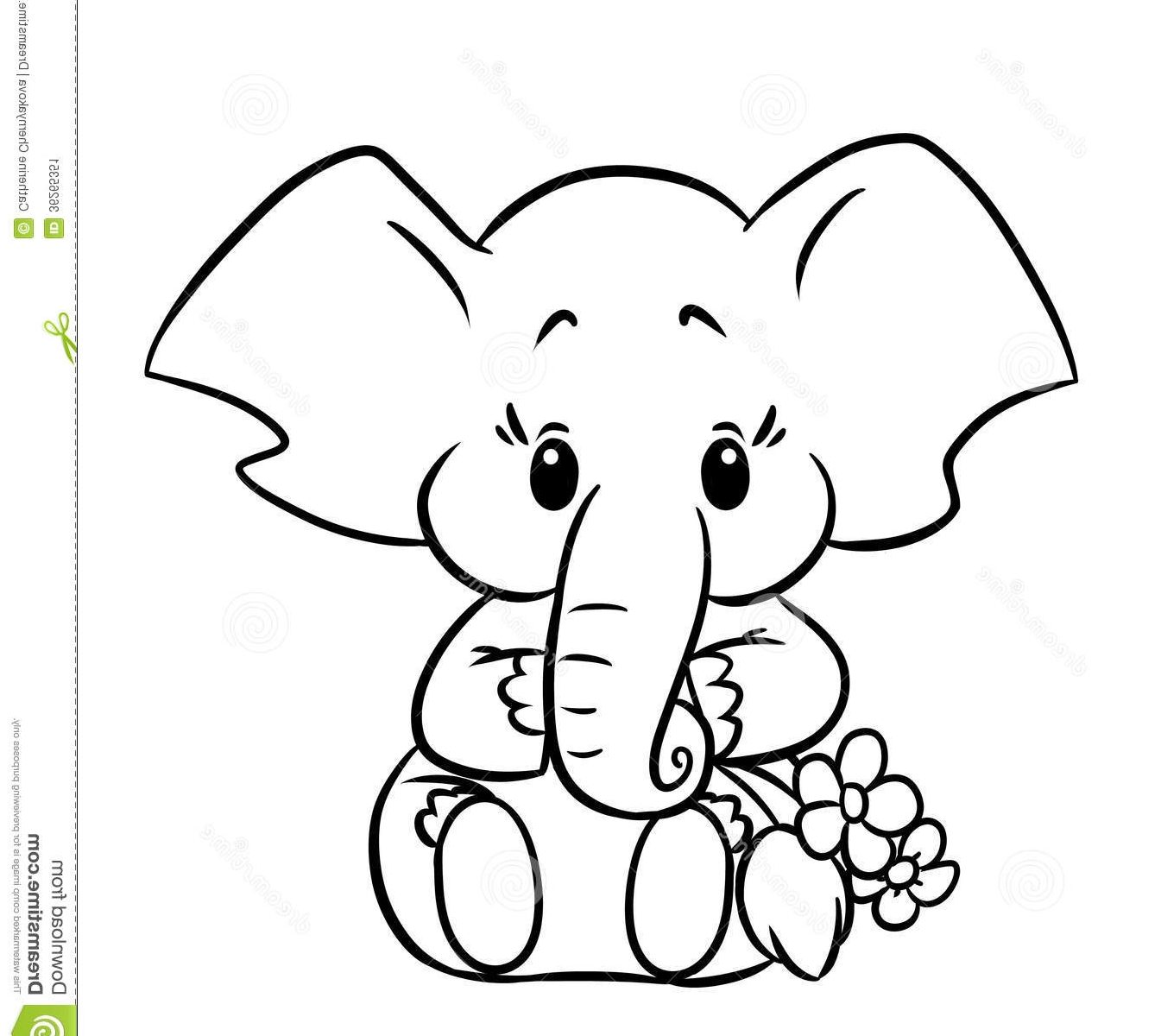 1345x1200 Coloring For Kids Literarywondrous Baby Elephant Pages Free