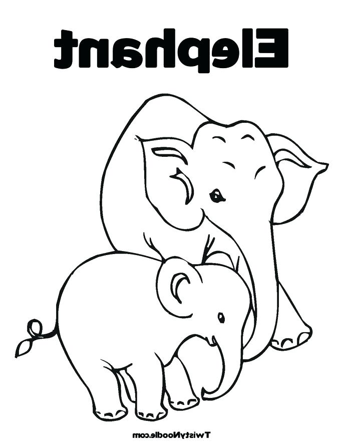 685x886 Baby Elephant Coloring Page E Is For Elephant Coloring Page E