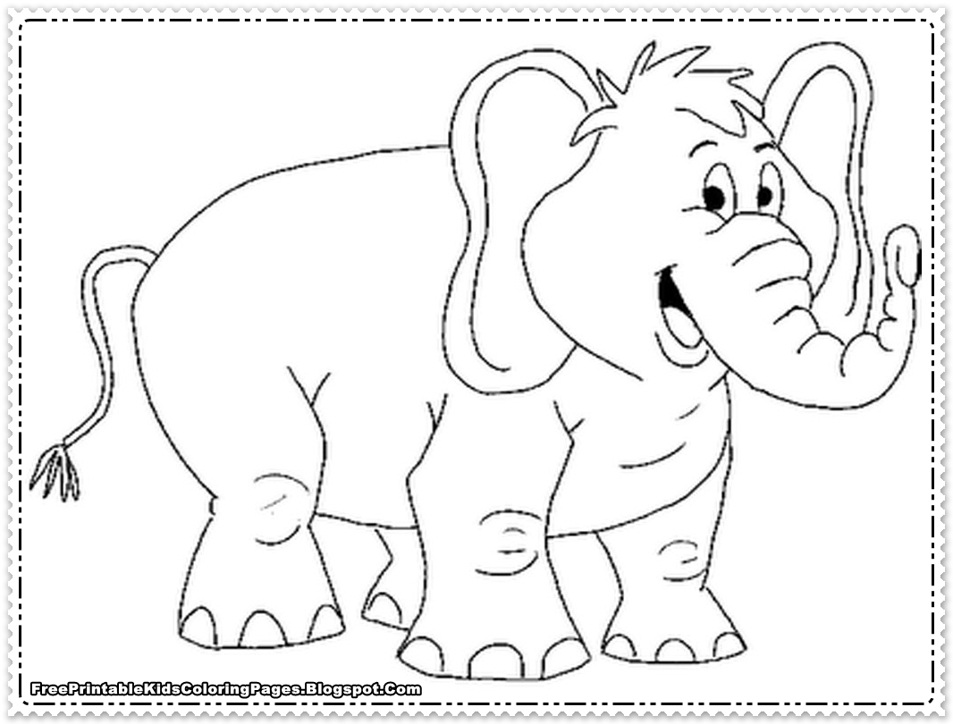 1066x810 Elephant Coloring Pages Printable Free