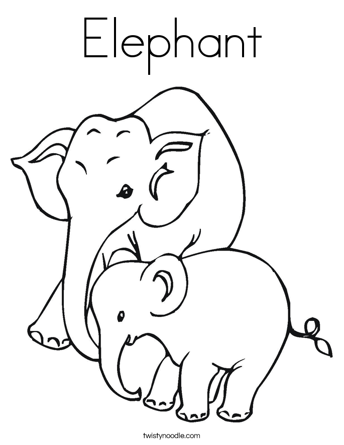 685x886 Baby Elephant Coloring Pages