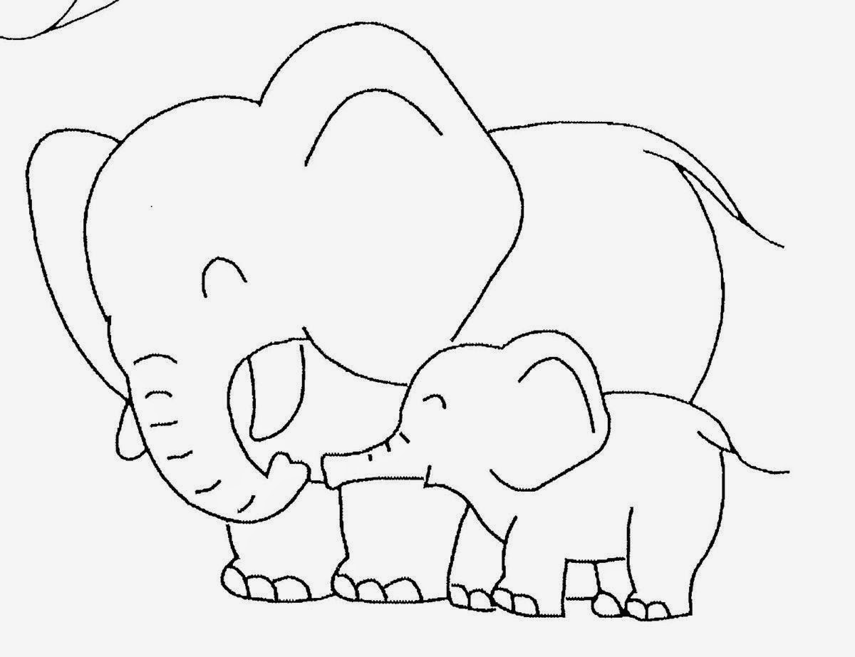 1200x922 In Cute Baby Elephant Coloring Pages