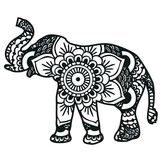 550x550 Pretty Printable Elephant Coloring Pages Print Page Circus Pretty