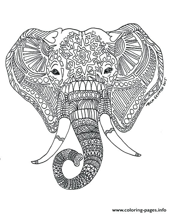 570x713 Elephant Coloring Pages For Kids