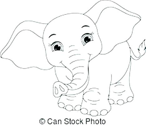 468x402 Baby Elephant Coloring Pages Cute Elephant Coloring Pages Baby