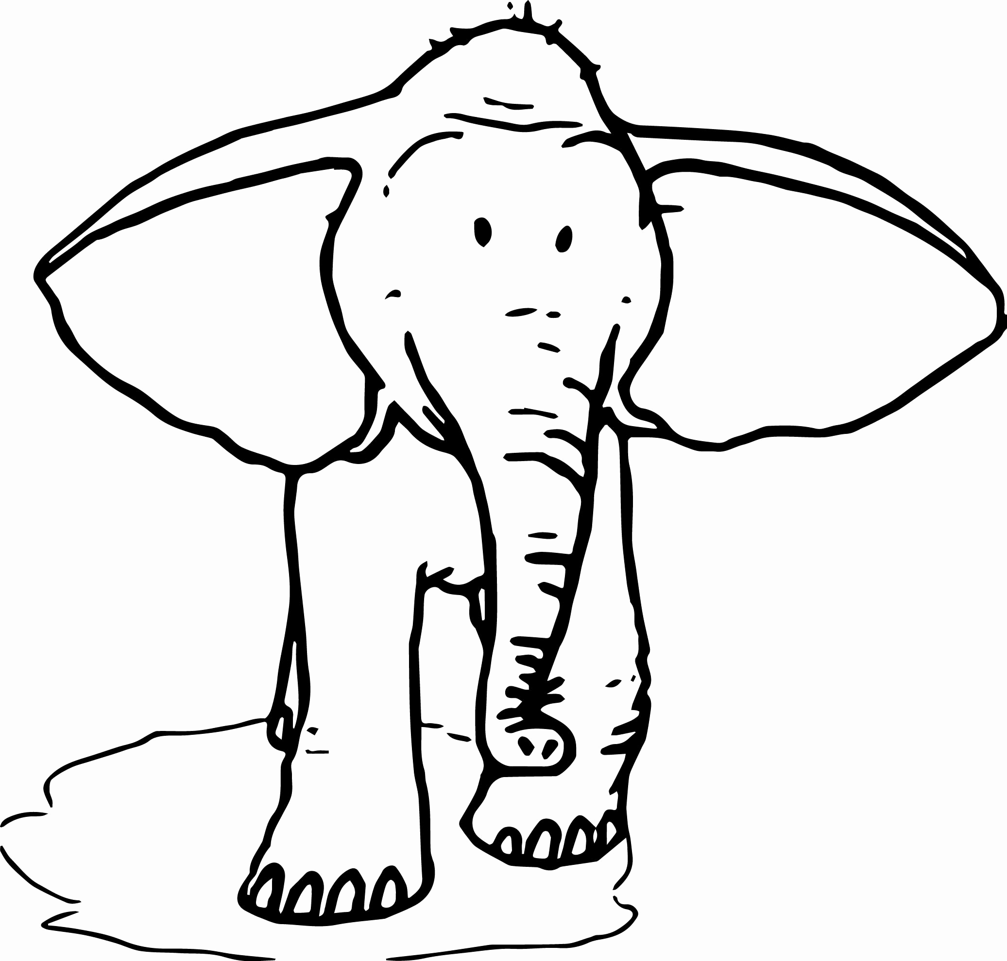 2073x1980 Unique Pictures Of Ear Coloring Page
