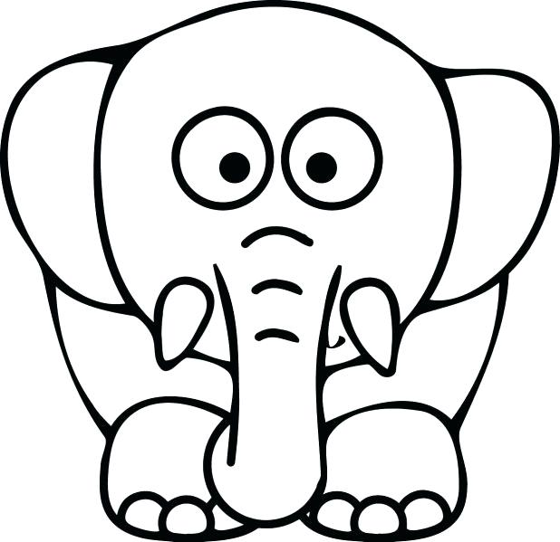 618x599 Coloring Pages Elephant Elephant Coloring Pages Printable Mandala