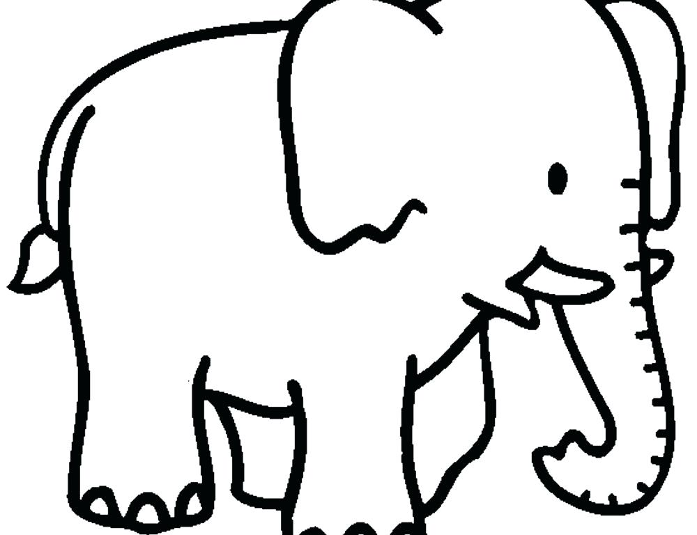 1000x768 Coloring Pages Elephant Free Printable Elephant Coloring Pages