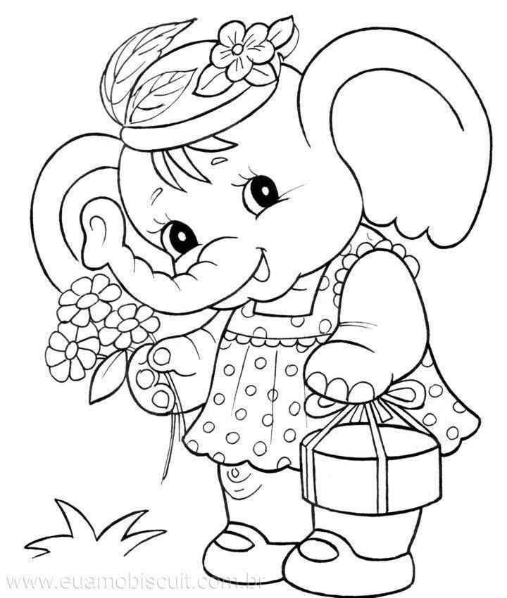 720x850 Best Cute Baby Elephant Coloring Pages Images