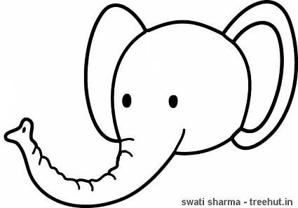 425x297 Elephant Face Coloring Things To Paint Elephant
