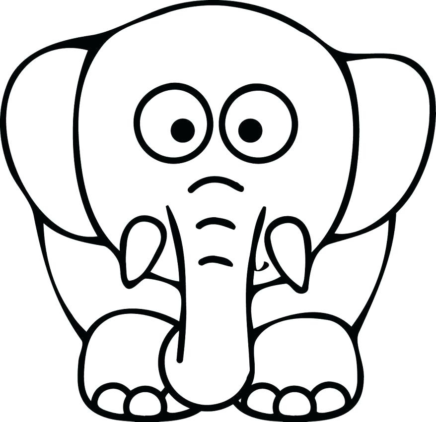 878x851 Elephant Face Coloring Page Coloring Page Face Holiday Coloring