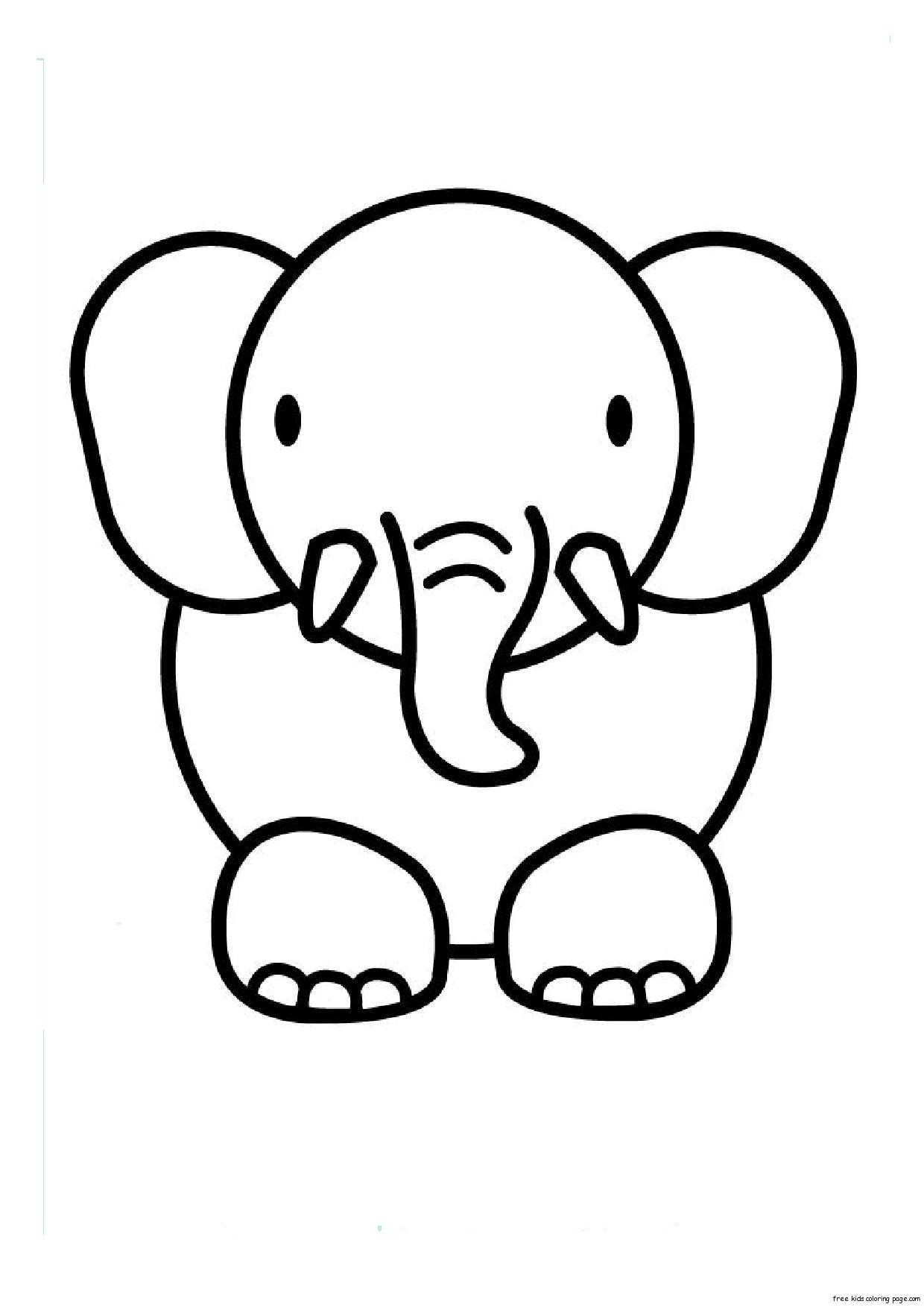 1240x1754 Lovely Coloring Pages Elephant Face