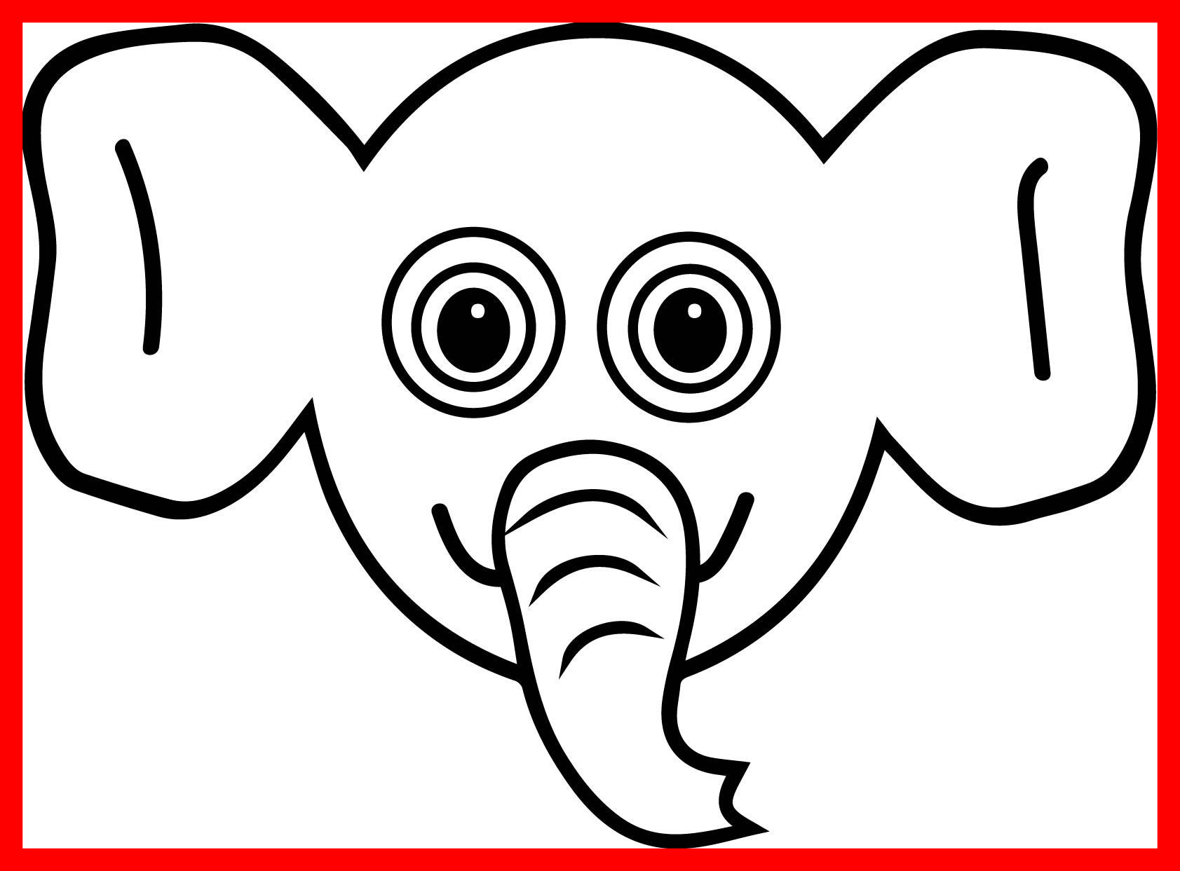 1683x1243 Unbelievable Coloring Pages Elephant Sheet Pic For Concept