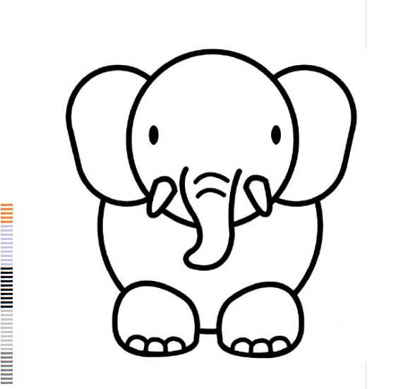 588x551 Baby Elephant Coloring Pages