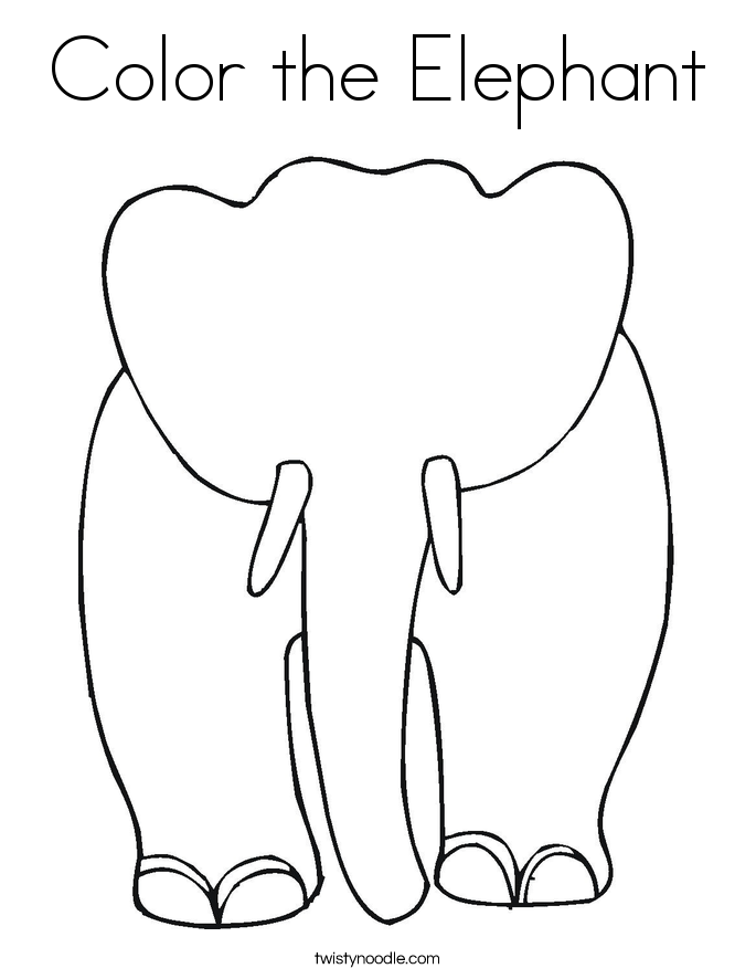 685x886 Best Color The Elephant Coloring Pages Free Printable