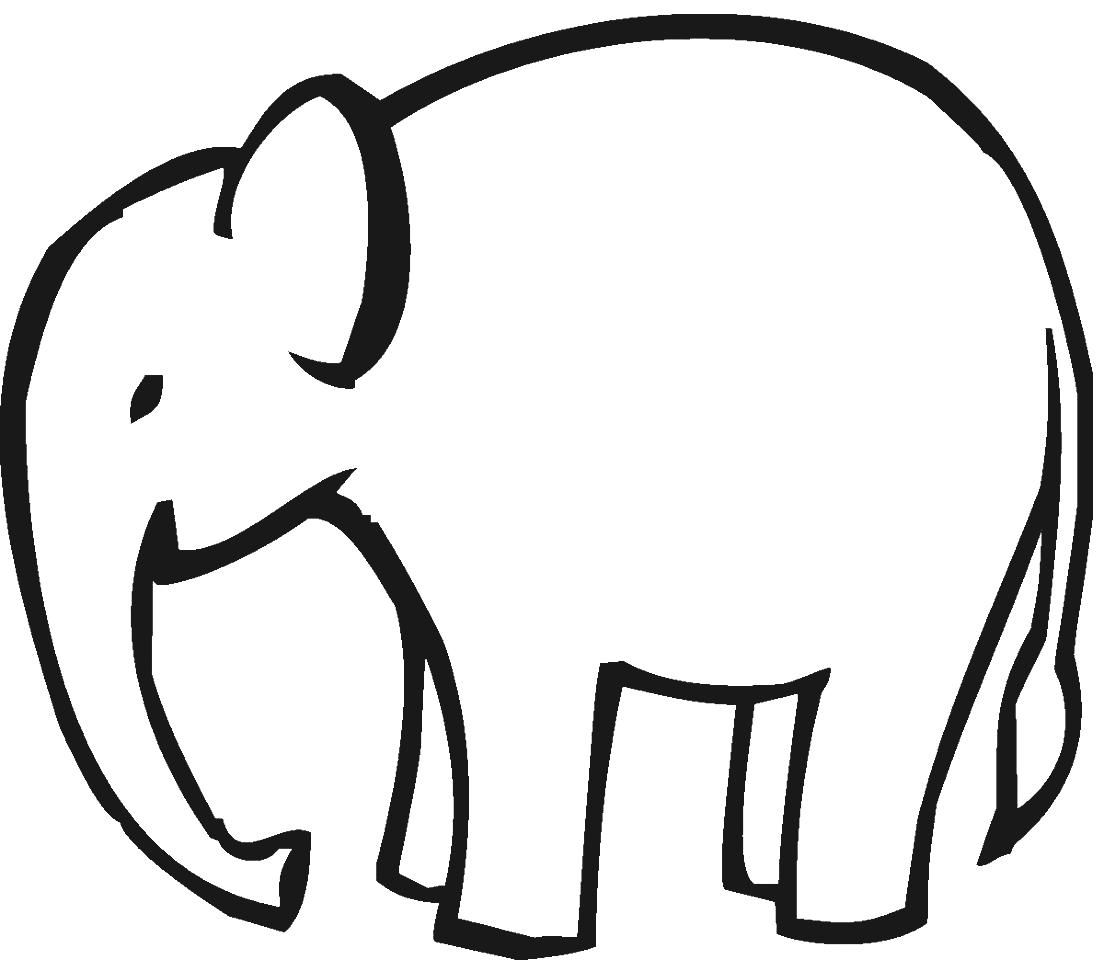 1104x960 Easy Elephant Coloring Page Elephants Coloring Book