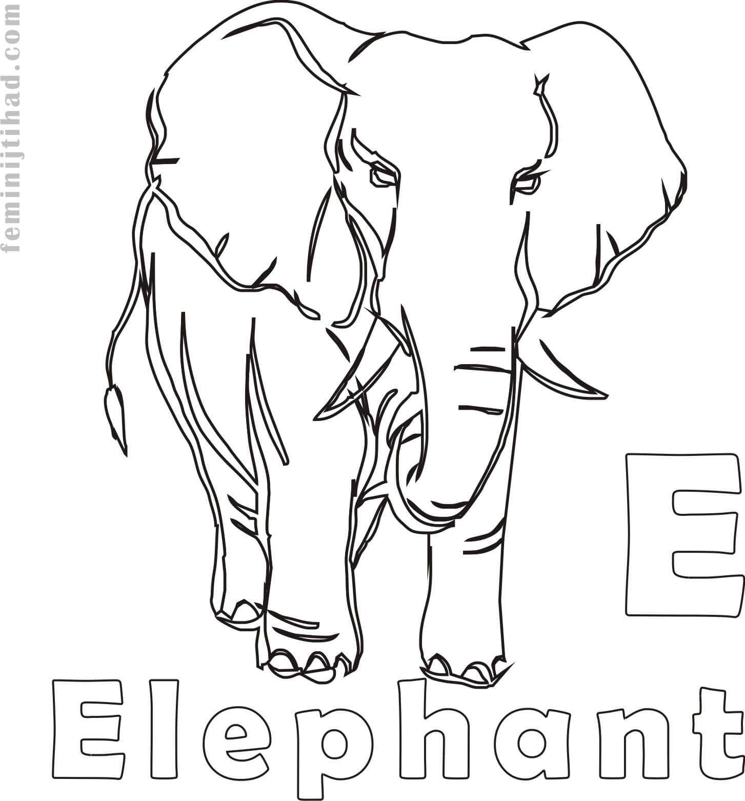 1453x1562 Elephant Coloring Pages To Print For Free Coloring Pages For Kids