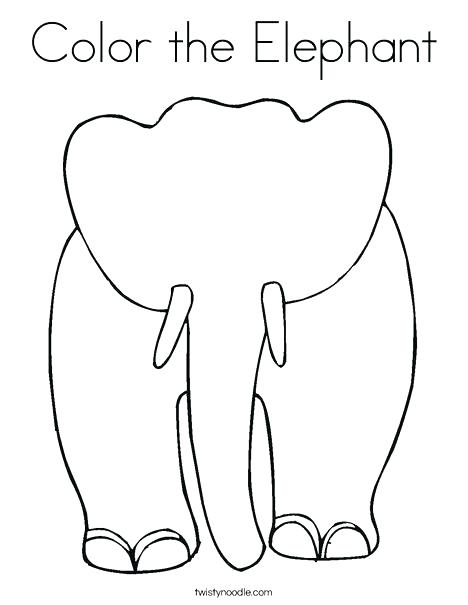 468x605 Elephant Head Coloring Pages Color Page Blank Child