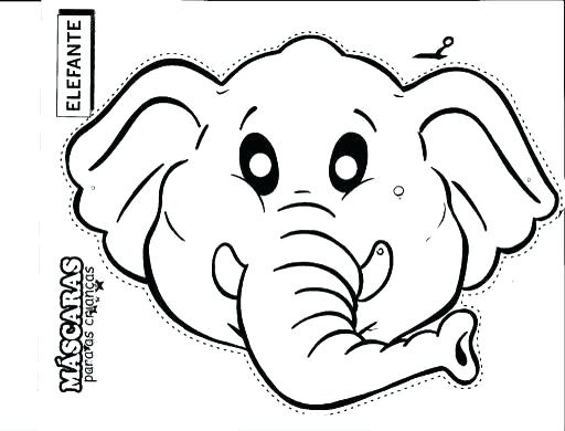 512x390 Face Coloring Pages Elephant Head Coloring Page Stunning Elephant