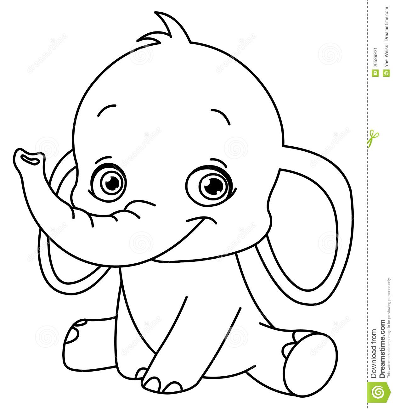 1255x1300 Baby Elephant Coloring Pages To Download And Print For Free