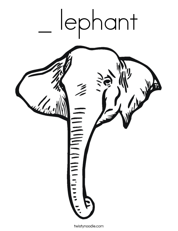 685x886 Lephant Coloring Page