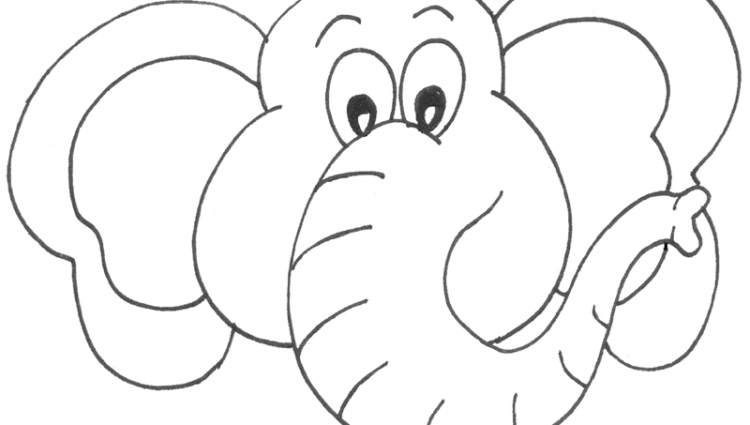 750x425 Elephant Head Coloring Page Elephant Head Coloring Page Best